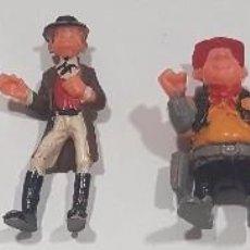 Figuras de Goma y PVC: LOTE DE FIGURAS RARAS DE PLASTICO , DEL OESTE SIN MARCA , ANTIGUAS. Lote 95821807
