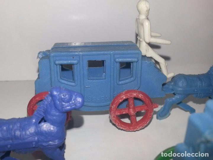 Figuras de Goma y PVC: MONTAPLEX ESJUSA : ANTIGUO LOTE DE 3 CARAVANAS DILIGENCIAS DEL OESTE KIOSCO AÑOS 70 - Foto 6 - 95855643