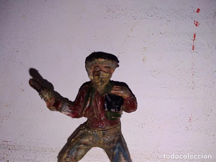 Figuras de Goma y PVC: Figura de goma vaquero diligencia oeste Pech - Foto 2 - 95861939