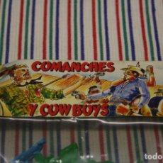 Figuras de Goma y PVC: COMANCHES Y COWBOYS REFERENCIA 131. Lote 96008579