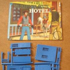 Figuras de Goma y PVC: MONTAPLEX Nº 453 POBLADOS DEL OESTE HOTEL SOBRE ABIERTO CON MATRICES SIN DESTROQUELAR. Lote 96042387