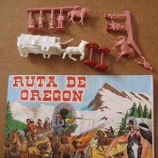 Figuras de Goma y PVC: MONTAPLEX Nº 461 RUTA DE OREGON SOBRE ABIERTO CON MATRICES SIN DESTROQUELAR. Lote 96042611