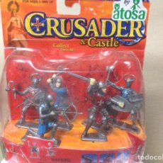 Figuras de Goma y PVC: CAJA CRUZADOS MEDIEVALES - CRUSADER CASTLE EN BLISTER. Lote 117303352