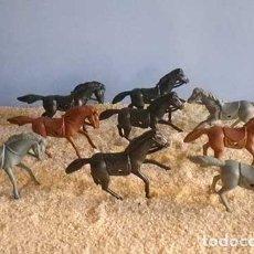 Figuras de Goma y PVC: LOTE FIGURAS CABALLOS INDIOS Y VAQUEROS OESTE AÑOS 80-90. Lote 96264179