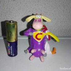 Figuras de Goma y PVC: MUÑECO FIGURA SUPER VACA Y POLLO CARTOON NETWORK NCE. Lote 96351159