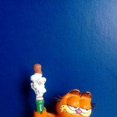 Figuras de Goma y PVC: FIGURA PVC ANTIGUA GARFIELD AÑO 1978 - 1981 MARCA BULLY. Lote 96435008