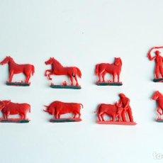 Figuras de Goma y PVC: ANASCRAPS - SOBRES MONTAPLEX - LOTE VAQUEROS. Lote 96564423