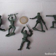 Figuras de Goma y PVC: 5 FIGURAS SOLDADITOS PVC AÑOS 80-90 . Lote 96619299