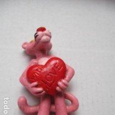 Figuras de Goma y PVC: FIGURA PVC PANTERA ROSA CON CORAZÓN. BULLY, W. GERMANY. UNITED ARTISTS, 1983. Lote 96622271