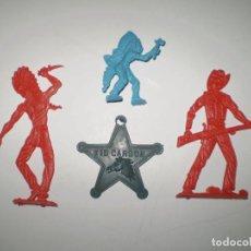 Figuras de Goma y PVC: LOTE OESTE MONTAPLEX - KIOSKO AÑOS 70´S. Lote 96632331