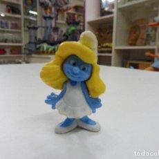 Figuras de Goma y PVC: SIN MARCA PITUFINA PITUFA PITUFOS FIGURA GOMA PVC. Lote 111275102