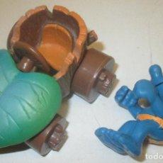 Figuras de Goma y PVC Schleich: FIGURA PVC PITUFO CON COCHE PLANTA PITUFOS SMURF SMURFS SCHLUMPF PUFF PEYO SCHLEICH 2000. Lote 96708491