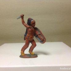 Figuras de Goma y PVC: FIGURA INDIO TEIXIDO - INDIO GOMA DE TEIXIDO AÑOS 50 - FIGURA DE TEIXIDOR . Lote 96727467