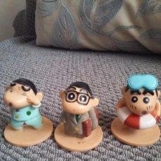 Figuras de Goma y PVC: TRES FIGURAS DE SHINCHAN. Lote 96800623