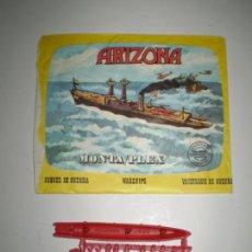 Figuras de Goma y PVC: SOBRE MONTAPLEX Nº 438 ARIZONA - VACÍO + COLADA DEL BARCO ARIZONA. Lote 96832799