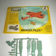 Figuras de Goma y PVC: LOTE MONTAPLEX - AVIÓN FOKKER Nº 601- SOBRE VACÍO + COLADA DEL AVIÓN. Lote 96833203