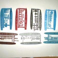 Figuras de Goma y PVC: MONTAPLEX LOTE DE 7 BUQUES BARCOS DE GUERRA - KIOSKO AÑOS 70´S - NUEVOS A ESTRENAR. Lote 97051275