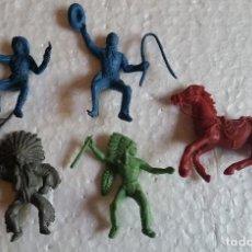 Figuras de Goma y PVC: AMG-294- INDIOS Y VAQUEROS DE PLÁSTICO. Lote 97059911