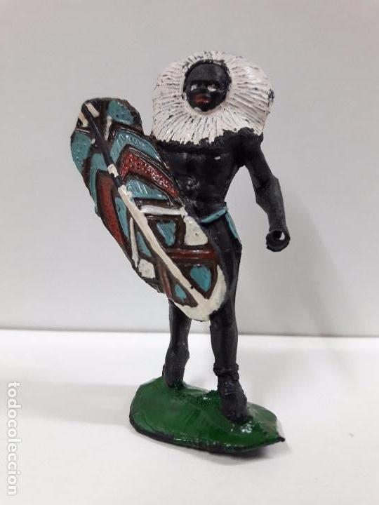 Figuras de Goma y PVC: GUERRERO AFRICANO NEGRO . REALIZADO POR ARCLA . AÑOS 50 EN GOMA - Foto 3 - 97235459