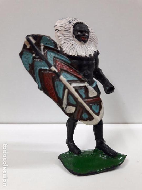 Figuras de Goma y PVC: GUERRERO AFRICANO NEGRO . REALIZADO POR ARCLA . AÑOS 50 EN GOMA - Foto 4 - 97235459