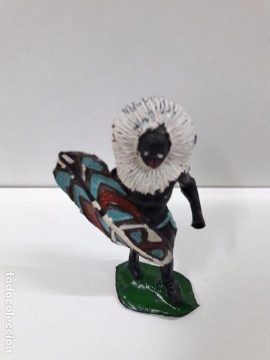 Figuras de Goma y PVC: GUERRERO AFRICANO NEGRO . REALIZADO POR ARCLA . AÑOS 50 EN GOMA - Foto 5 - 97235459