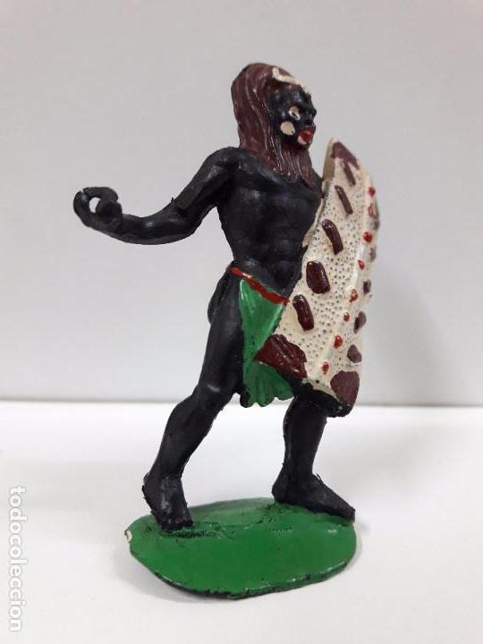 Figuras de Goma y PVC: GUERRERO AFRICANO NEGRO . REALIZADO POR ARCLA . AÑOS 50 EN GOMA - Foto 4 - 97236331