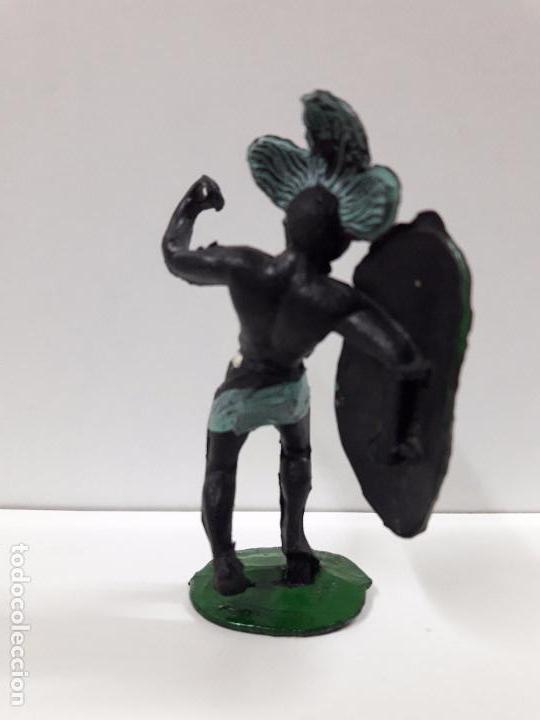 Figuras de Goma y PVC: GUERRERO AFRICANO NEGRO . REALIZADO POR ARCLA . AÑOS 50 EN GOMA - Foto 2 - 97236435