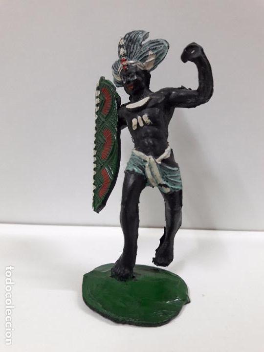 Figuras de Goma y PVC: GUERRERO AFRICANO NEGRO . REALIZADO POR ARCLA . AÑOS 50 EN GOMA - Foto 3 - 97236435