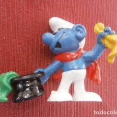 Figuras de Goma y PVC: FIGURA PITUFO MAGO ILUSIONISTA SCHELEICH NUEVO SIN USO. Lote 97294555