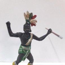 Figuras de Goma y PVC: GUERRERO AFRICANO . REALIZADO POR GAMA . SERIE GRANDE . AÑOS 50 EN GOMA. Lote 97520123