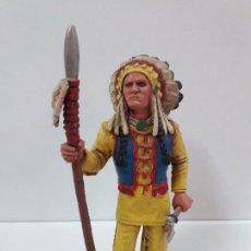 Figuras de Goma y PVC: RED CLOUD . HEROES OF THE WEST . REALIZADO POR COMANSI. Lote 97707331