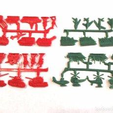Figuras de Goma y PVC: MONTAPLEX SERJAN LOTE DE 4 COLADAS MILITARES - KIOSKO AÑOS 70´S. Lote 97868295
