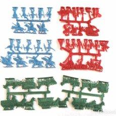 Figuras de Goma y PVC: MONTAPLEX SERJAN LOTE DE 5 COLADAS SERIE OESTE - KIOSKO AÑOS 70´5. Lote 102265662