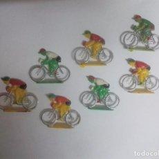 Figuras de Goma y PVC: LOTE DE 7 CICLISTAS DE KIOSKO ANTIGUOS. Lote 98245643