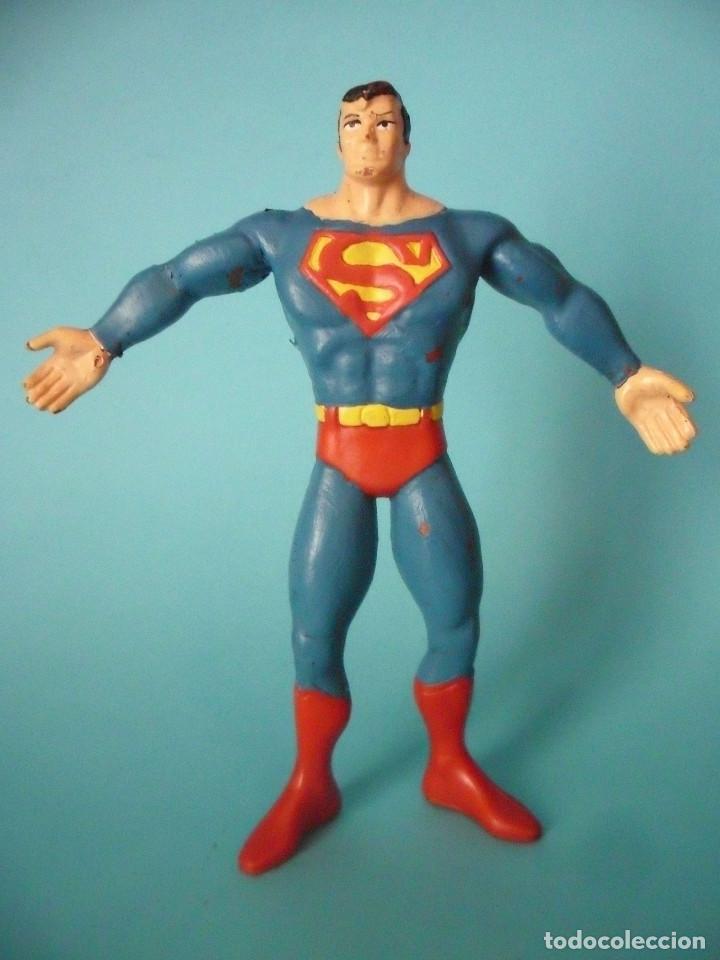 SUPERMAN FIGURA DE GOMA FLEXIBLE COMICS SPAIN DC COMICS 1992 (Juguetes - Figuras de Goma y Pvc - Comics Spain)