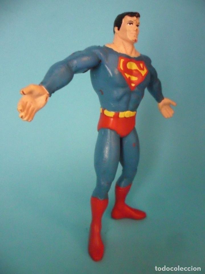 Figuras de Goma y PVC: SUPERMAN FIGURA DE GOMA FLEXIBLE COMICS SPAIN DC COMICS 1992 - Foto 3 - 98373479
