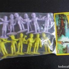Figuras de Goma y PVC: COMANSI: THUNDERBIRDS BOLSA SIN ABRIR.GUARDIANES DEL ESPACIO AÑOS 70. MONOCOLOR LILA +AMARILLA. PTOY. Lote 98397051