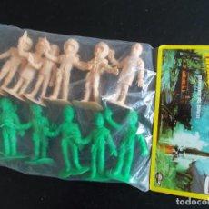Figuras de Goma y PVC: COMANSI: THUNDERBIRDS BOLSA SIN ABRIR.GUARDIANES DEL ESPACIO AÑOS 70. MONOCOLOR VERDE+ SALMON. PTOY. Lote 98397355