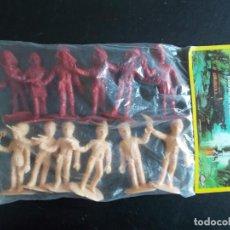 Figuras de Goma y PVC: COMANSI: THUNDERBIRDS BOLSA SIN ABRIR.GUARDIANES DEL ESPACIO AÑOS 70. MONOCOLOR ROJO + SALMON. PTOY. Lote 98397711