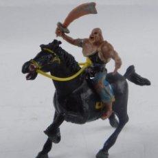 Figuras de Goma y PVC: FIGURA ESTEREOPLAST, SERIE DEL COSACO VERDE A CABALLO, KARAKAN, ORIGINAL AÑOS 60, REALIZADO EN PLAST. Lote 98446643