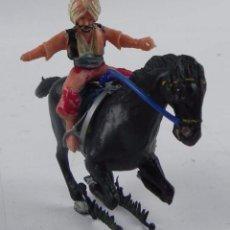 Figuras de Goma y PVC: FIGURA ESTEREOPLAST A CABALLO, KURDO DEL COSACO VERDE, AÑOS 60, REALIZADO EN PLASTICO.. Lote 98455755