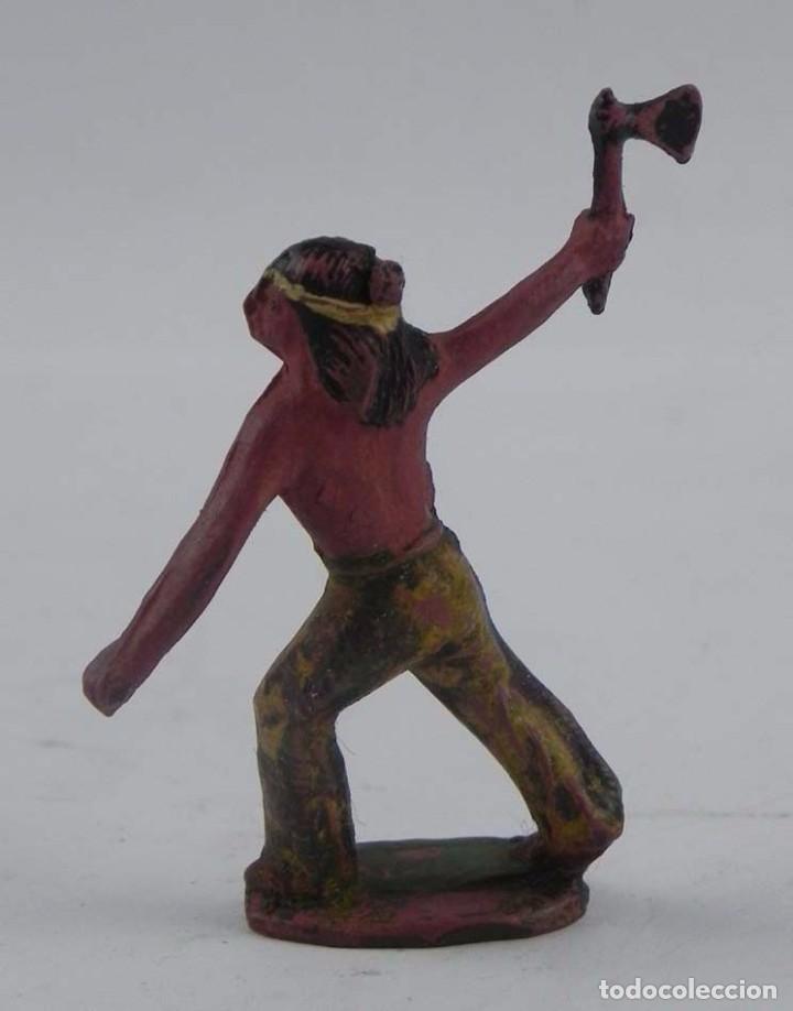 Figuras de Goma y PVC: FIGURA DE INDIO, REALIZADO EN GOMA POR CAPELL O REAMSA. - Foto 2 - 98538071