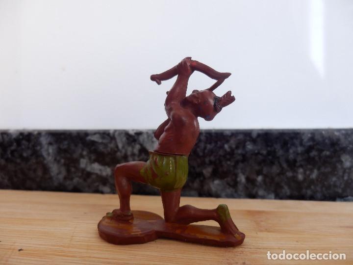 Figuras de Goma y PVC: indio gama oeste en goma - Foto 2 - 98551255
