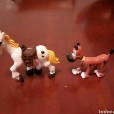 Figuras de Goma y PVC: CABALLO Y PERRO LUCKY LUKE,RANTANPLAN Y JOLLY JUMPER. Lote 112036708