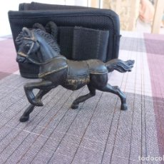 Figuras de Goma y PVC: REAMSA-GOMARSA CABALLO NEGRO SERIE CUADRIGA ROMANA MESSALA. Lote 98636827