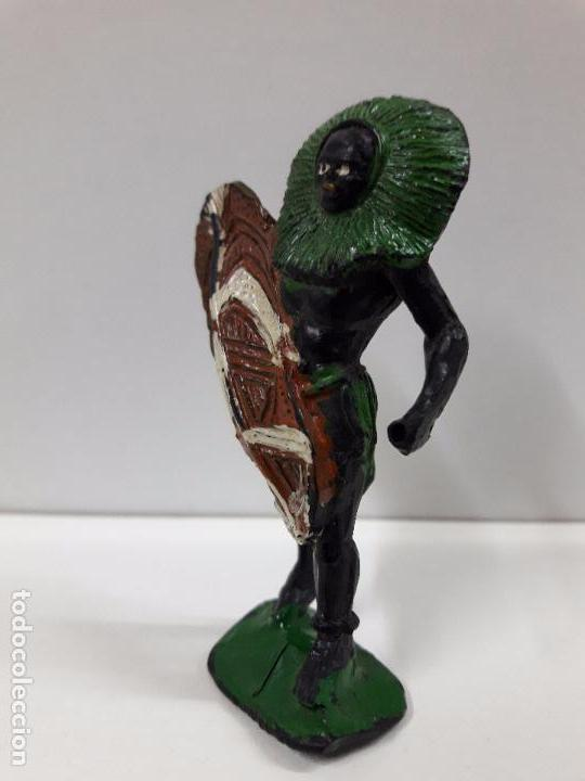 Figuras de Goma y PVC: GUERRERO AFRICANO NEGRO . REALIZADO POR ARCLA . AÑOS 50 EN GOMA - Foto 4 - 98669443