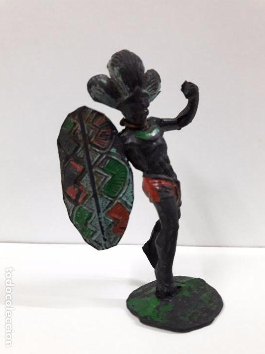 Figuras de Goma y PVC: GUERRERO AFRICANO NEGRO . REALIZADO POR ARCLA . AÑOS 50 EN GOMA - Foto 3 - 98669511