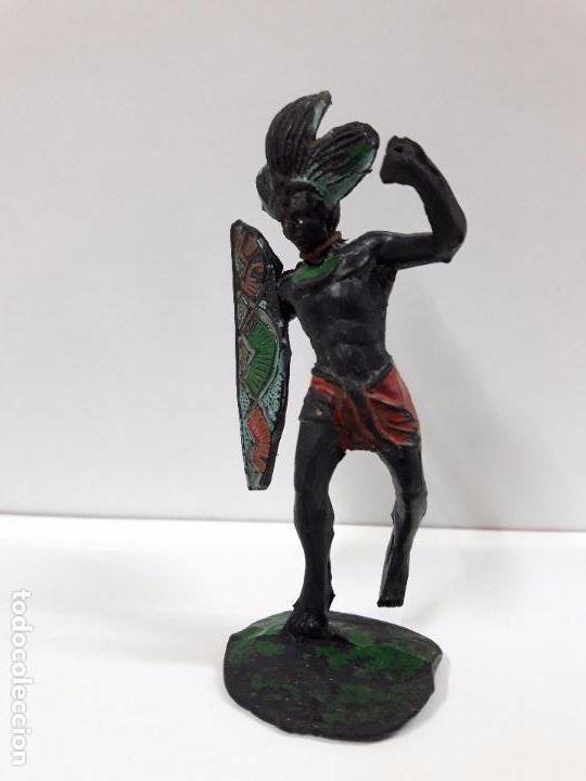 Figuras de Goma y PVC: GUERRERO AFRICANO NEGRO . REALIZADO POR ARCLA . AÑOS 50 EN GOMA - Foto 4 - 98669511