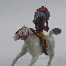 Figuras de Goma y PVC: INDIO A CABALLO FABRICADOS EN GOMA POR LA CASA PECH, TAL Y COMO SE VE EN LAS FOTOGRAFIAS PUESTAS.. Lote 98763639