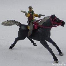 Figuras de Goma y PVC: VAQUERO A CABALLO DE SOTORRES, FABRICADO EN GOMA, SERIE SOMBRERO DESMONTABLE, AÑOS 50.. Lote 98831039